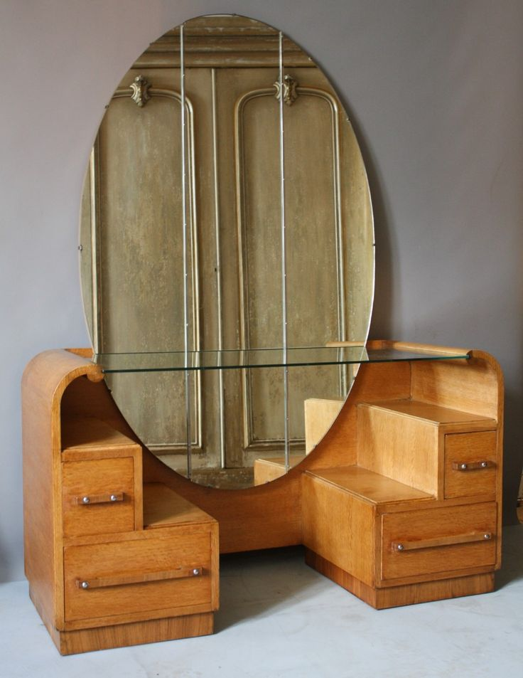 Awesome Love This Art Deco Dressing Table With The Cityscape Stair Steps And The  Off Center
