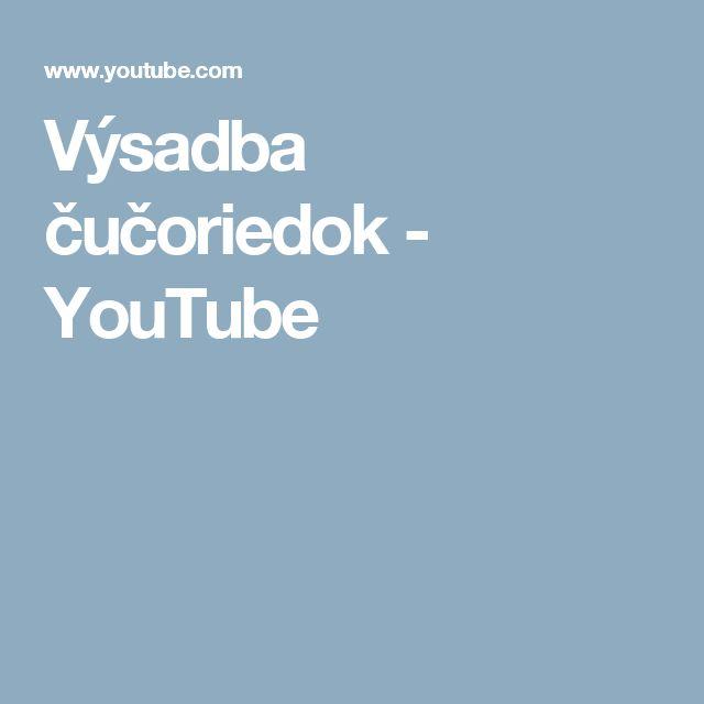 Výsadba čučoriedok - YouTube