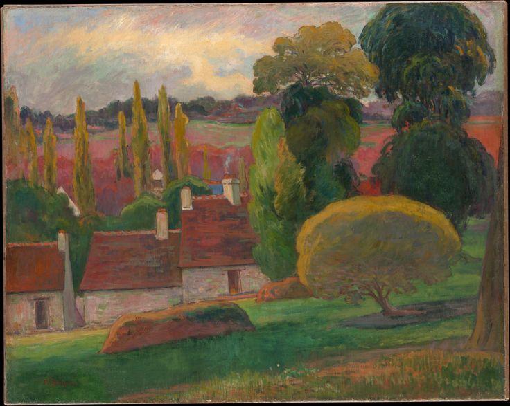 Eugène Henri Paul Gauguin (1848-1903) A Farm in Brittany, ca. 1894 oil on canvas 28 1/2 x 35 5/8 in. (72.4 x 90.5 cm) Bequest of Margaret Seligman Lewisohn, in memory of her husband, Sam A. Lewisohn, 1954 The Metropolitan Museum of Art, New York.  54.143.2