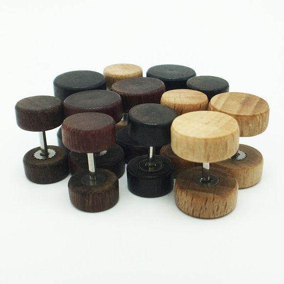 Sale 30%. i love it .... very much! Ebony Wood Studs, wood earrings, unisex, mens stud earrings, wood stud earrings, Macassar Ebony, wood post earrings, natural wood studs  ✤ Description ✤ Style: Tribal Boho ... #etsy