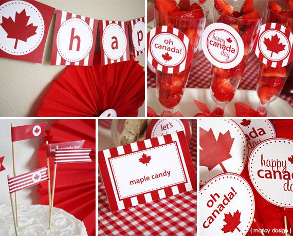 Canada Day Party Printables Collection Instant by MarleyDesign, $9.50