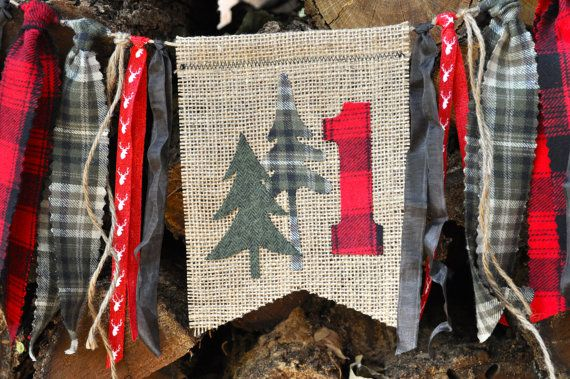 Lumberjack/woodland/camping party first birthday by GiddyGumdrops