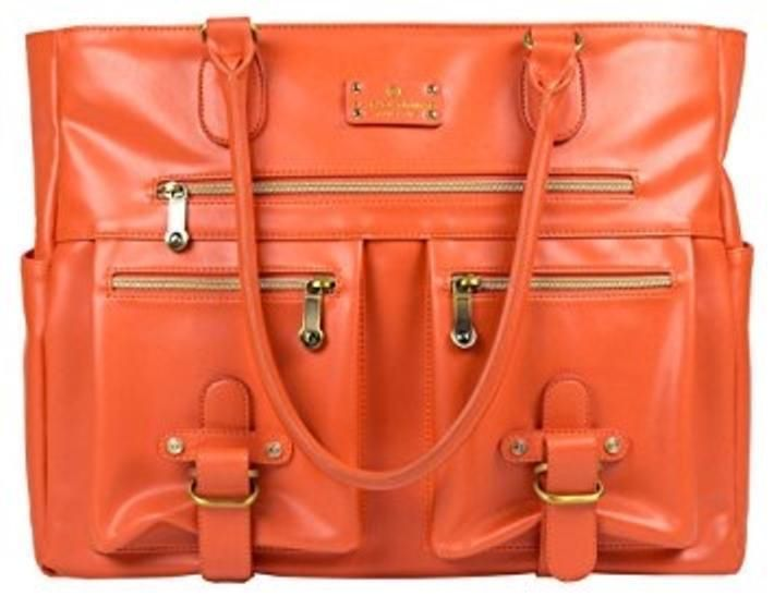 Gym Bags 68816: New 6 Pack Fitness Bag Renee Tote Meal Management Purse Orange Laptop Handbag BUY IT NOW ONLY: $102.0