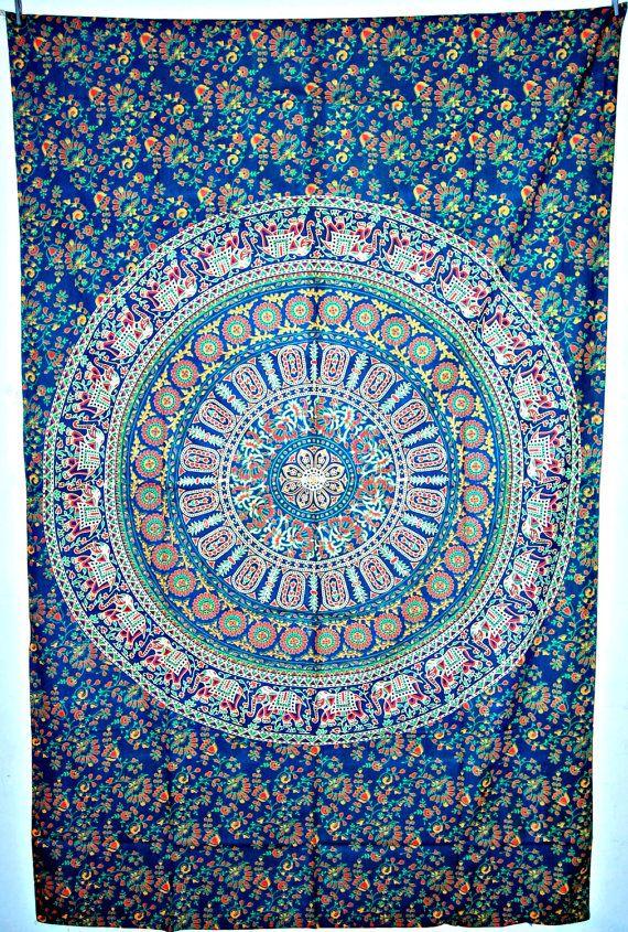 Indian Mandala Tapestry Hippie Dorm Decor by JaipurHandloom, $19.99