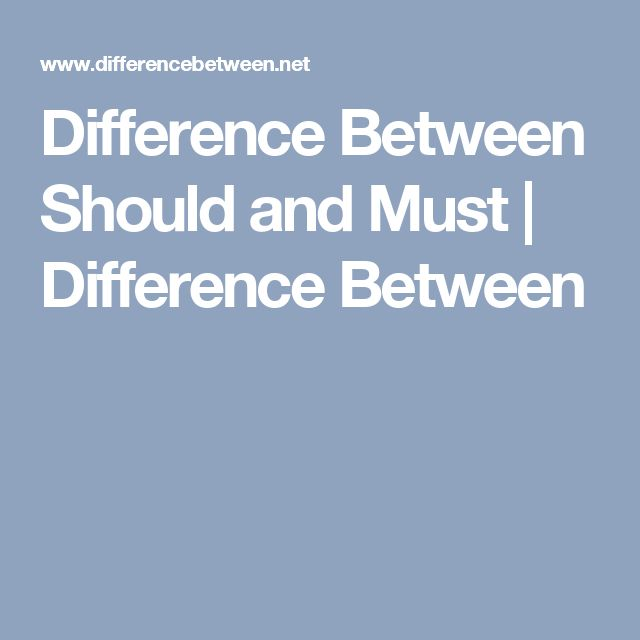 Difference Between Should and Must | Difference Between