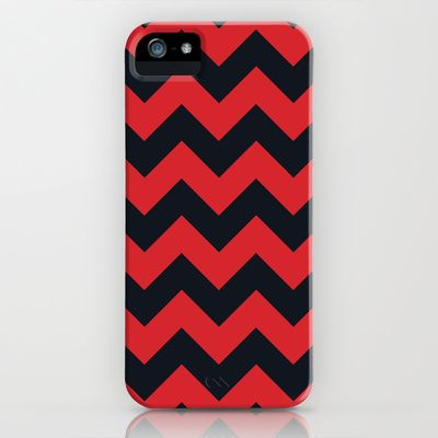 Chevrons Red & Black iPhone & iPod Case by Julie's Thingummies - $35.00