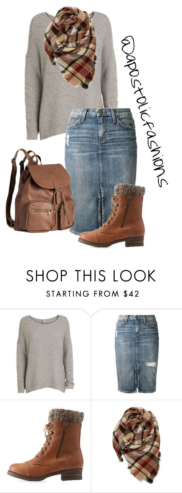 """Apostolic Fashions #1109"" by apostolicfashions on Polyvore featuring Object Collectors Item, Current/Elliott, Charlotte Russe, Evelyn K and H&M"
