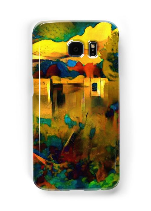 """Trentham gardens in vivid colours"" Samsung Galaxy Cases & Skins by siwabudda 