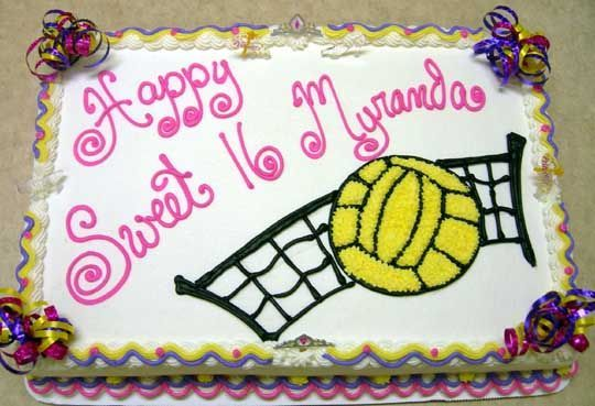 volleyball bday cake
