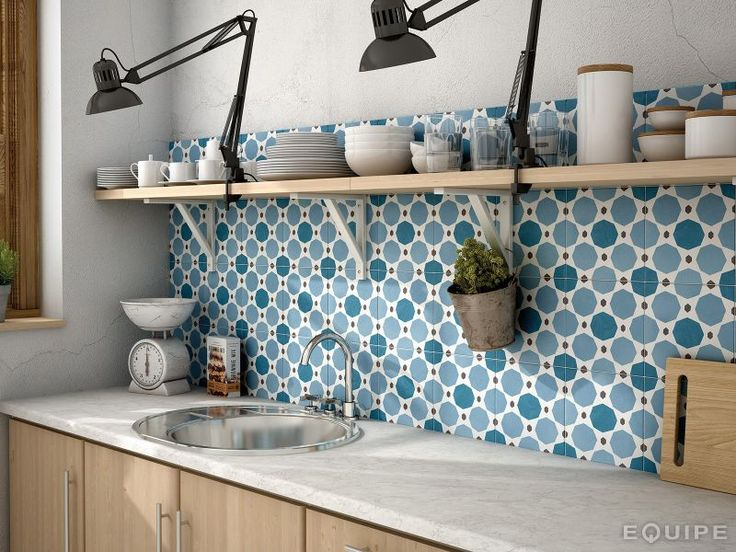 Carrelage sol, salle de bain, cuisine et terrasse C. Ciment imitation - Art Deco 7 Colours 20x20, carrelage imitation carreaux de ciment, grès cérame