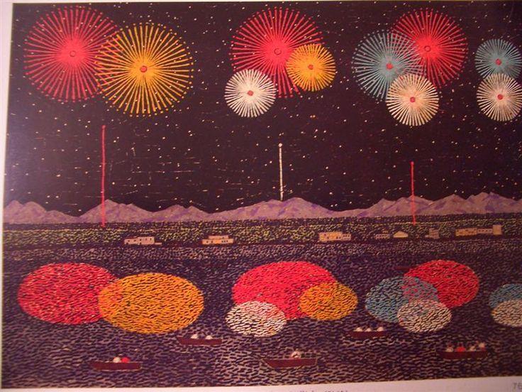 Kiyoshi Yamashita  キャンバスに咲く花のように。放浪の天才画家・山下清の描いた「花火」のちぎり絵が美しい