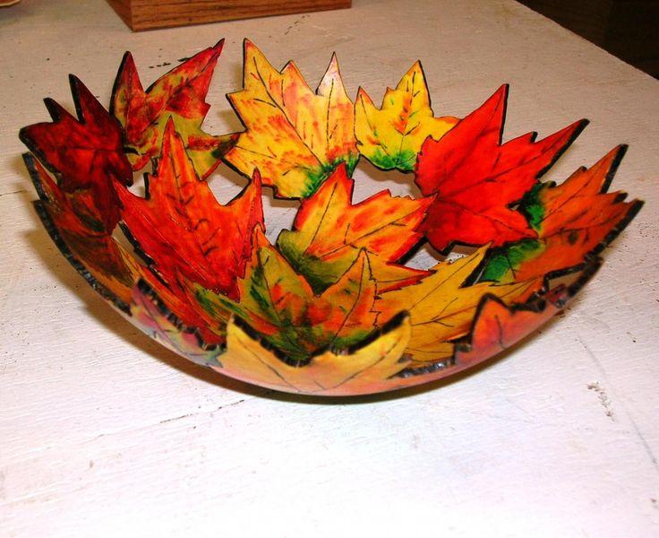 Leaf slab bowl--for NEXT Cone 10 firing