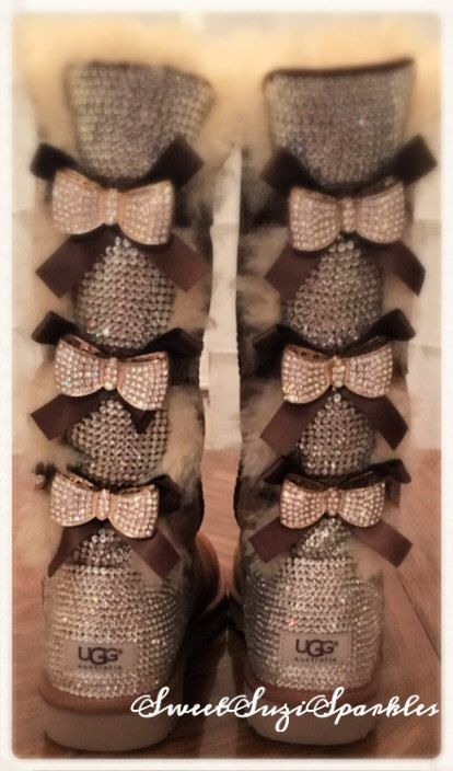 7b0e748d0fa Tall Bailey Bow Ugg boots with tons of BLING | Ugg Season | Ugg ...