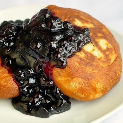 Brioche Toutons with Blueberry Honey Sauce - Rock Recipes -The Best Food & Photos from my St. John's, Newfoundland Kitchen.