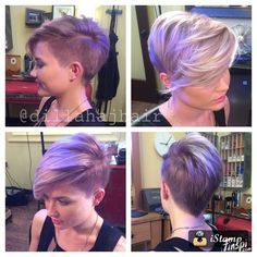 Justin Dillaha--master of short hair! Shaved side, pixie ... - <3 - makumbo - Finspi.com