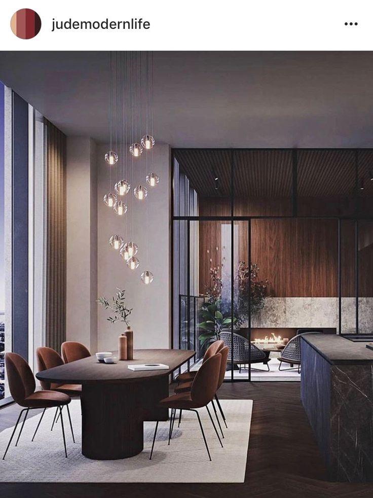 Modern home, modern dining area