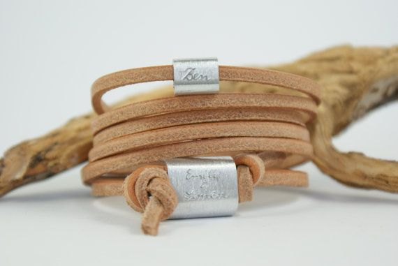 FFOREVER  Personalized engraved leather bracelet by TanjaBraun
