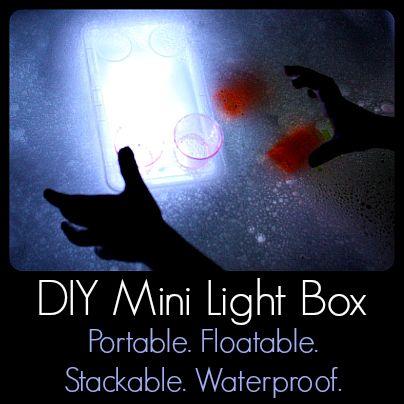 DIY Mini Light Box: Portable, Floatable, Stackable, Waterproof - Play Trains!