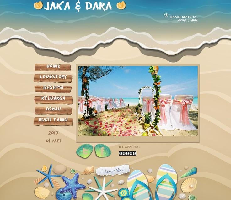 Undangan Pernikahan Online tema Beach, Hanya di Datangya.com