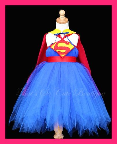 Super Girl Tutu Dress with Cape LOL can you tell EMily is growing out of all her dress up clothes ha ha