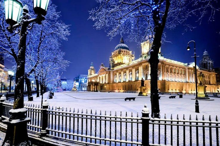 Belfast City Hall in City Centre (complete with a rare winter's snow). Belfast…