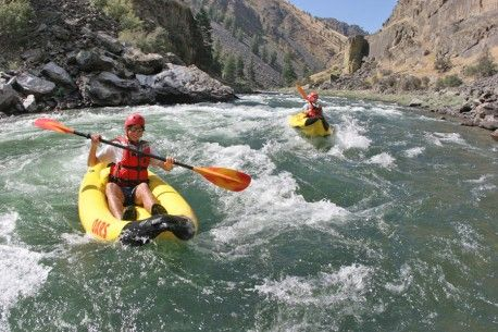 Idaho Whitewater Rafting. Inflatable kayaks, or as they're called in the industry, Duckies, are just about the perfect small whitewater river craft.