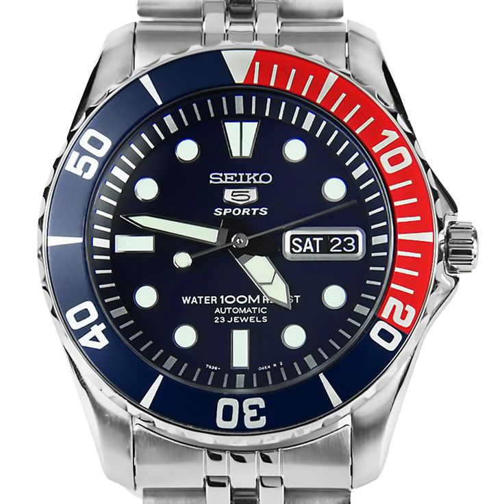 Keith's Seiko 5 Sports Automatic Mens Diving Watch SNZF15K1