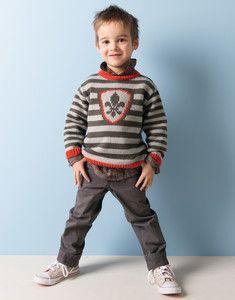 Modèle de pull chevalier enfant