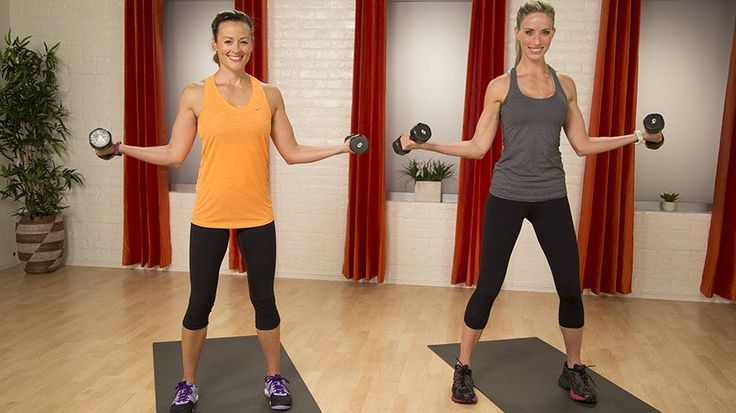 Fit in 5: Sexy Arms and Sleek Shoulders Workout: Grab a set of five-pound dumbbells and take five minutes to sculpt some seriously sexy arms!
