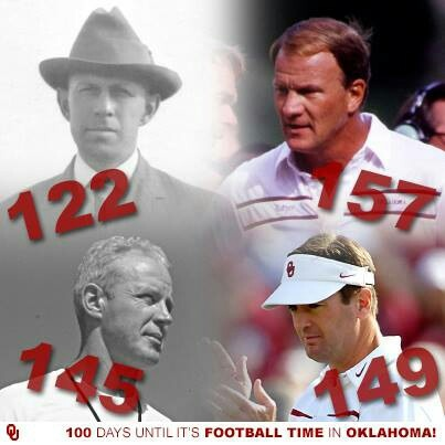 Ou only school to have four head coaches with over 100 wins boomer