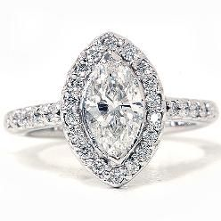 marquise halo ring - that's some serious sparkle <3
