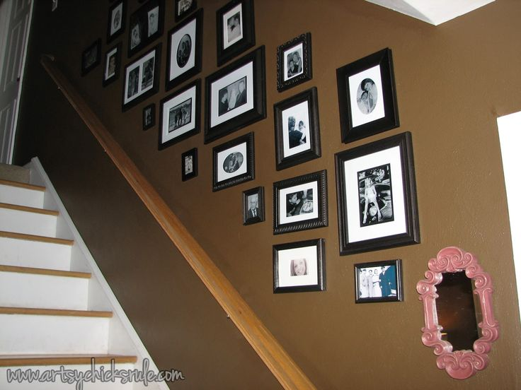 Gallery wall for stairwell {Artsy Chicks Rule}