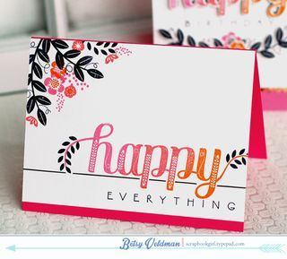 Happy Everything Card by Betsy Veldman for Papertrey Ink (March 2014)