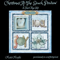 Christmas At The Beach on Craftsuprint - View Now!