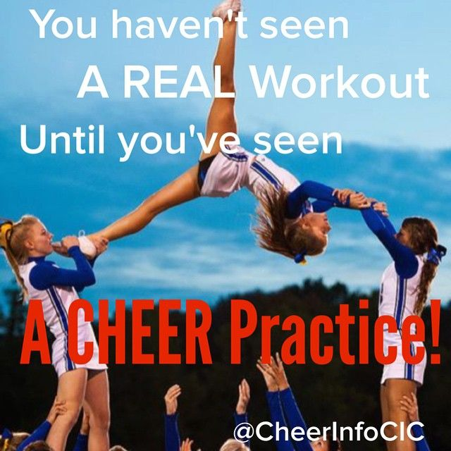 "So true! I hate how everyone thinks cheer is a ""girly"" sport!! be appreciative!"