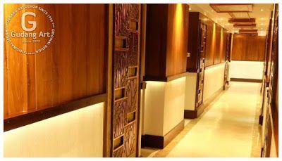 View Image Intallations - Pintu motif batik parang Gapit logam tembaga ukir.