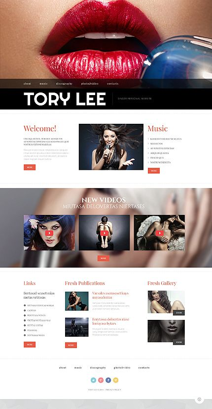 Personal Pages website inspirations at your coffee break? Browse for more Bootstrap #templates! // Regular price: $75 // Sources available: .HTML,  .PSD #Personal Pages #Bootstrap