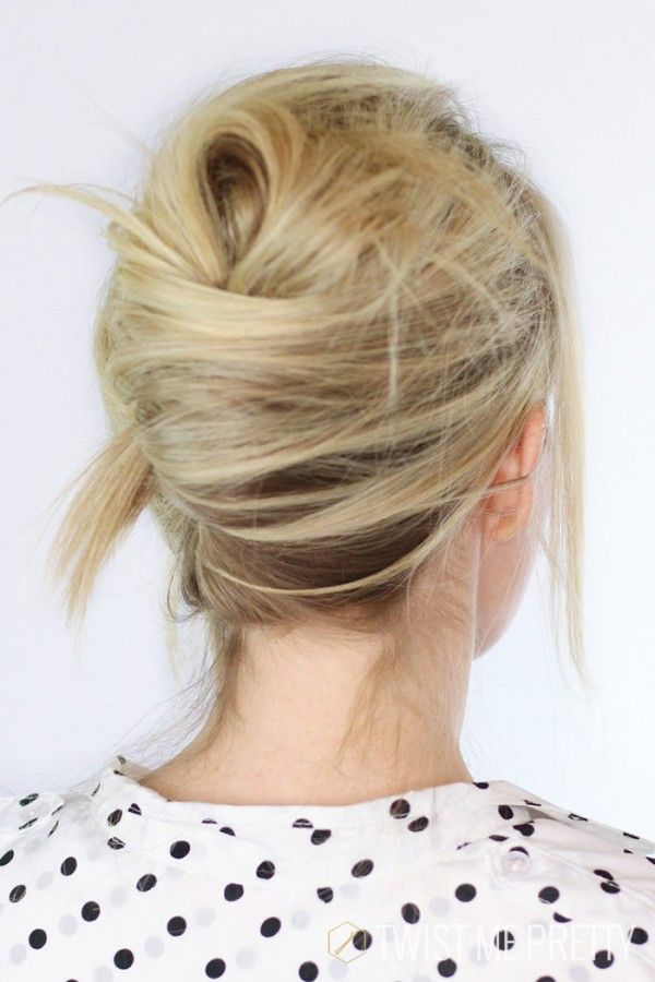 10 Party Up Do's for Medium Length Hair - French twist