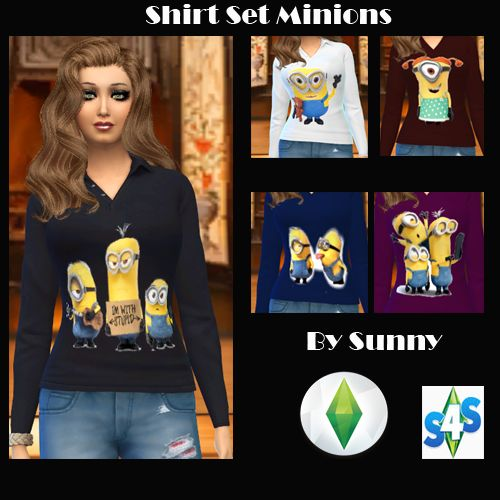 Minions Shirt Set - Sunny´s Sims 4 Kleider Recolors - Sims Dreams