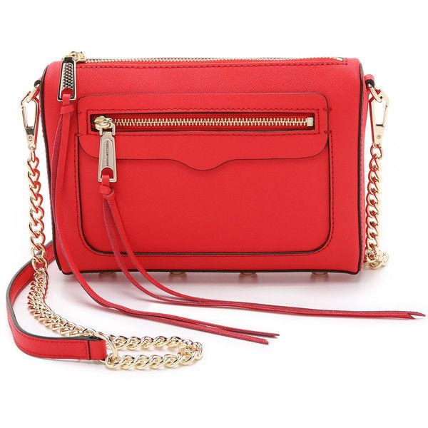 Rebecca Minkoff Avery Cross Body Bag ($175) ❤ liked on Polyvore featuring bags, handbags, shoulder bags, cherry, leather crossbody, leather crossbody purse, leather purse, crossbody purse and leather shoulder handbags