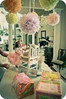 tissue pom poms: Paper Ball, Pompoms, Pom Pom Tutorials, Birthday Parties, Paper Pom Pom, Tissue Paper Poms, Tissue Pom Poms, Kate Design, Birthday Party Ideas