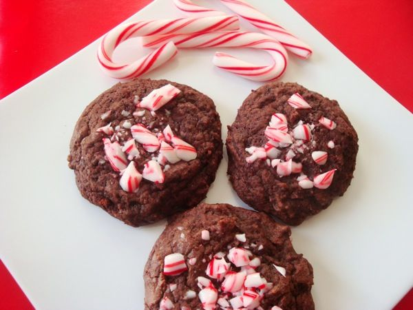 Chocolate Candy Cane Cookies - These cookies have the perfect ...