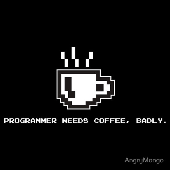 """""""Programmer Needs Food Badly Dark"""" T-Shirts & Hoodies by AngryMongo 