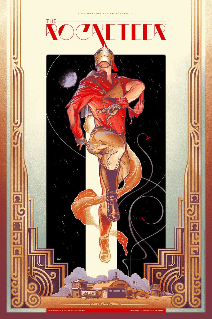 Beautiful ROCKETEER Poster Art by Martin Ansin