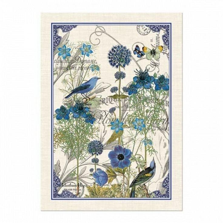 KITCHEN Towel ~ BLUE ~ Michel Design Works (NEW)