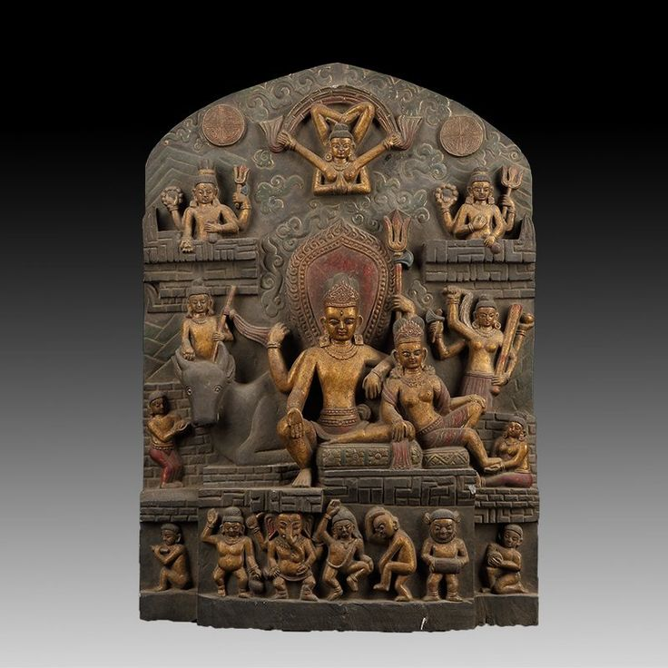 Tantric form of Vishnu, stone 50 cm. Nepal 18th century, Private collection