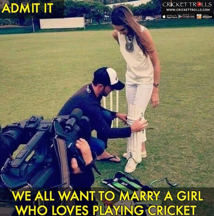 AB de Villiers tying the cricket pad for wife Danielle For more cricket fun click: http://ift.tt/2gY9BIZ - http://ift.tt/1ZZ3e4d