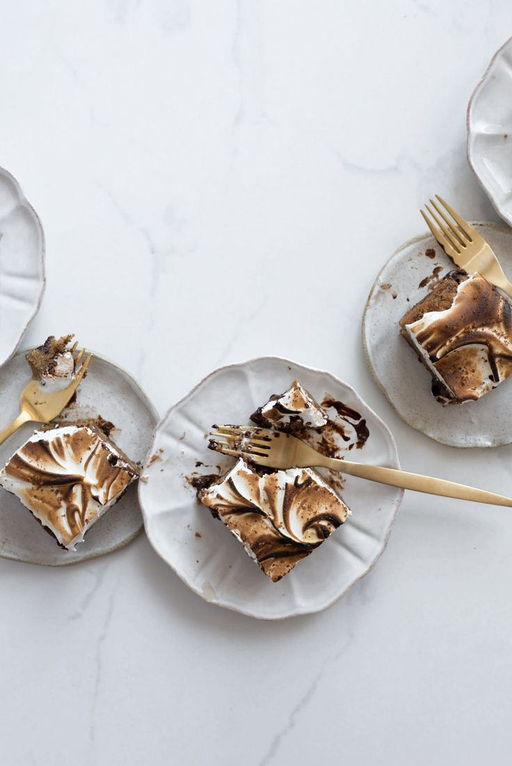 Brown Butter Cookie Meringue Bars with Espresso Fleur de Sel