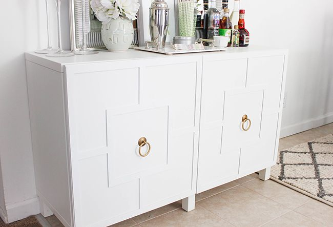 DIY Ikea Hack | Besta Cabinet Two Ways – Glam Latte