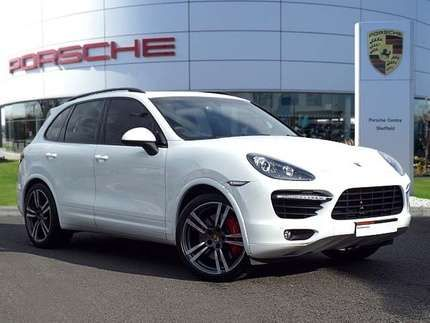 used 2013 63 reg white porsche cayenne turbo 5dr tiptronic s for sale on